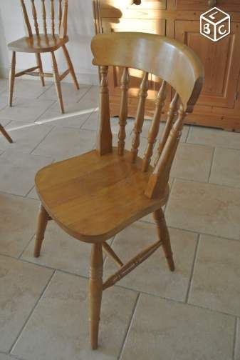 Chaises Type Bistrot En Pin Anglais Ameublement Shabby Chaise