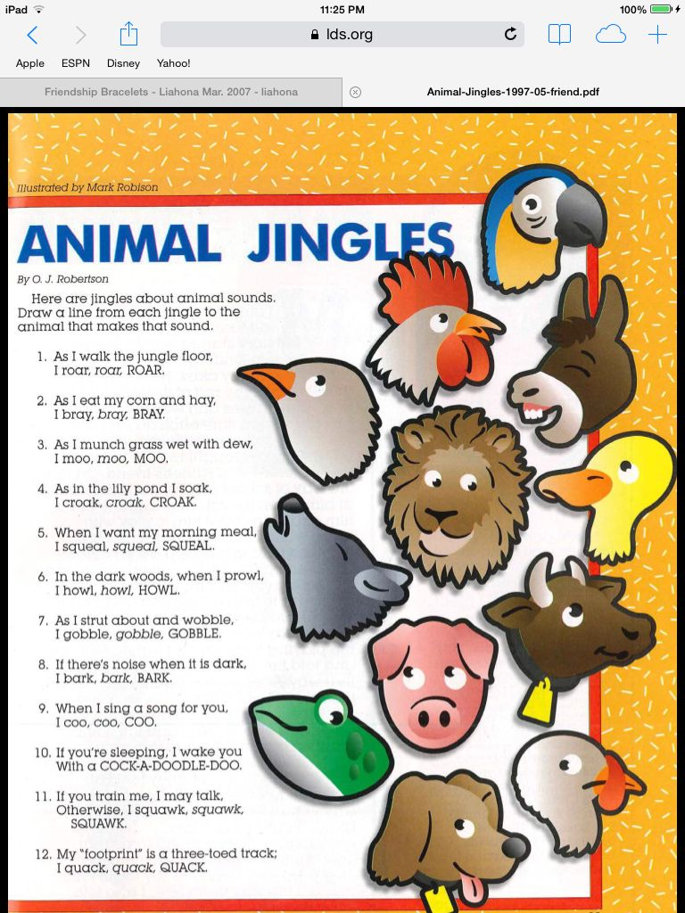 Lesson 35: I Can Be Kind to animals. If you didn\'t use it for lesson ...