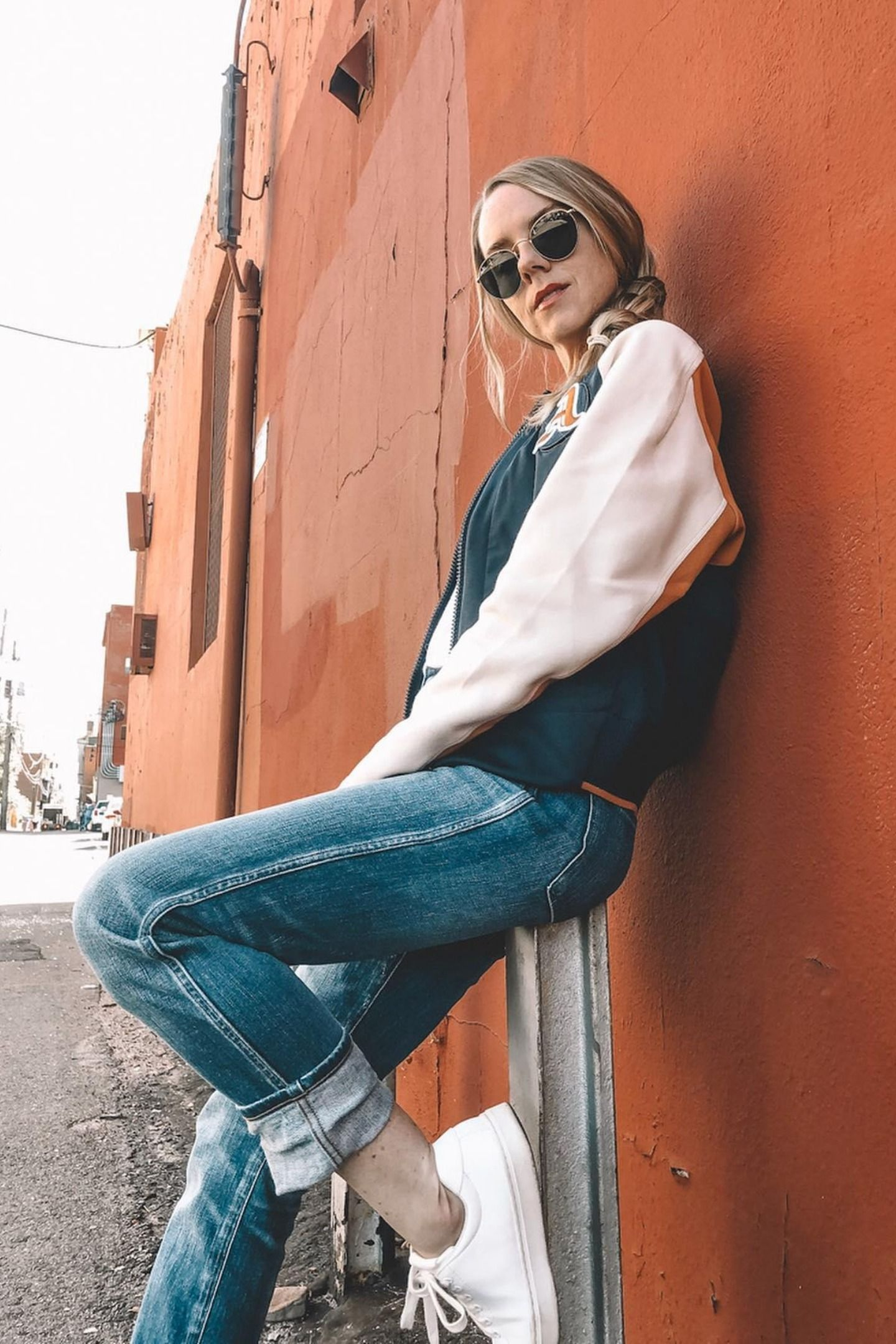 Vacunar perdí mi camino vanidad  adidas VRCT Jacket - Blue | adidas US | Adidas outfit women, Letterman  jacket outfit, Jackets