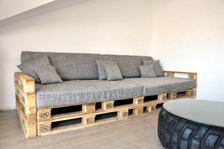 Europaletten Sofa Bauen | Kunstrasen Garten