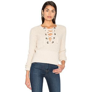 525 america Lace Up Sweater