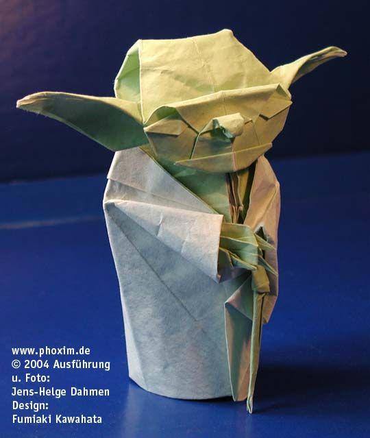How to make THE ORIGAMI COVER YODA - YouTube | 639x540