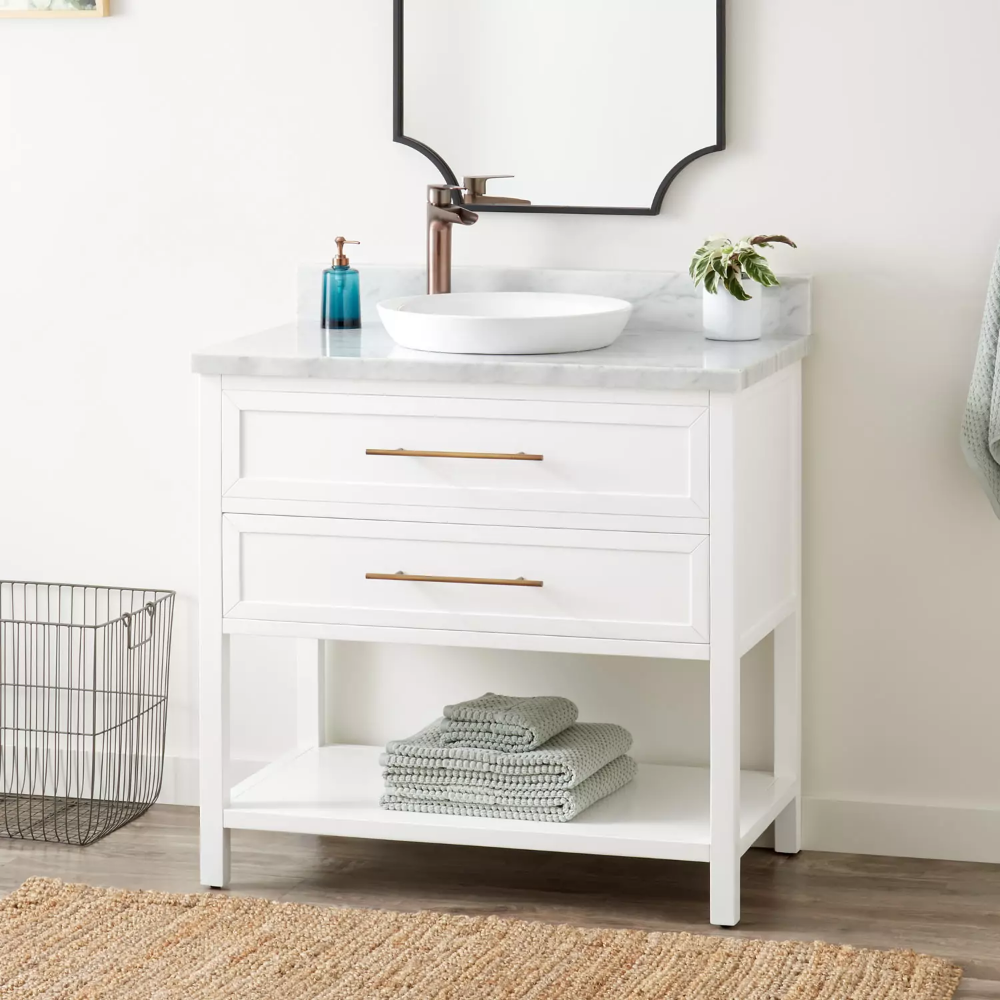With Its Clean Design And Single Drawer The 36 Vessel Sink