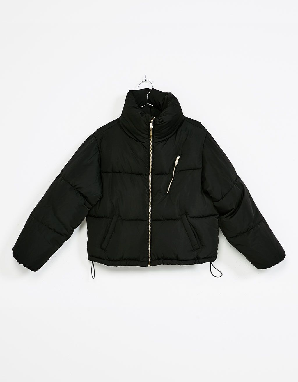 Puffy' cropped quilted jacket - Coats and jackets - Bershka Sweden ... : quilted cropped jacket - Adamdwight.com