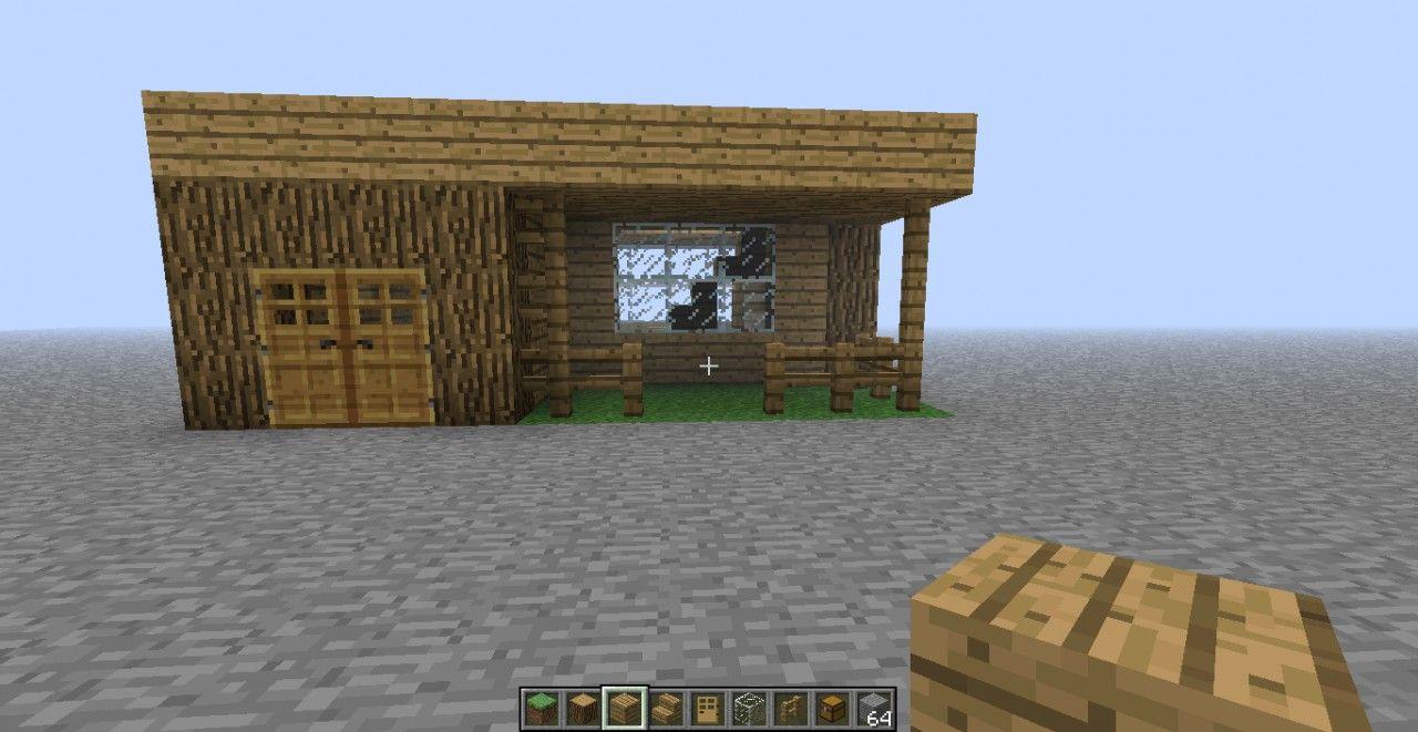 Simple House Blueprint Minecraft Project Minecraft Small House Easy Minecraft Houses Minecraft Small Modern House