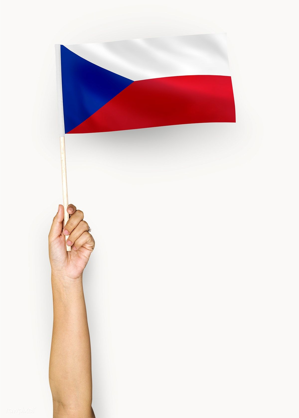 Download Premium Psd Of Person Waving The Flag Of Czech Republic 422483 Flags Of The World Flag Czech Republic