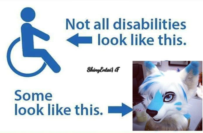 Not all disabilities look like this