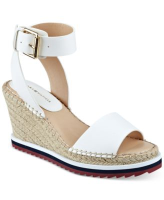 d7d087f93 TOMMY HILFIGER Tommy Hilfiger Yaslin Espadrille Wedge Sandals .   tommyhilfiger  shoes   all women