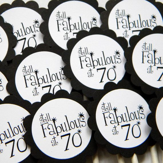 All About Details Black /& White 70 Cupcake Toppers Set of 12
