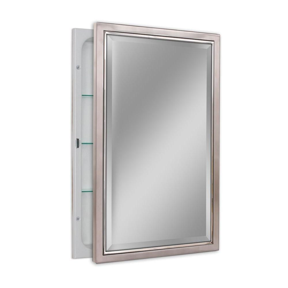 Deco Mirror 16 In W X 26 In H X 5 In D Classic Framed Single