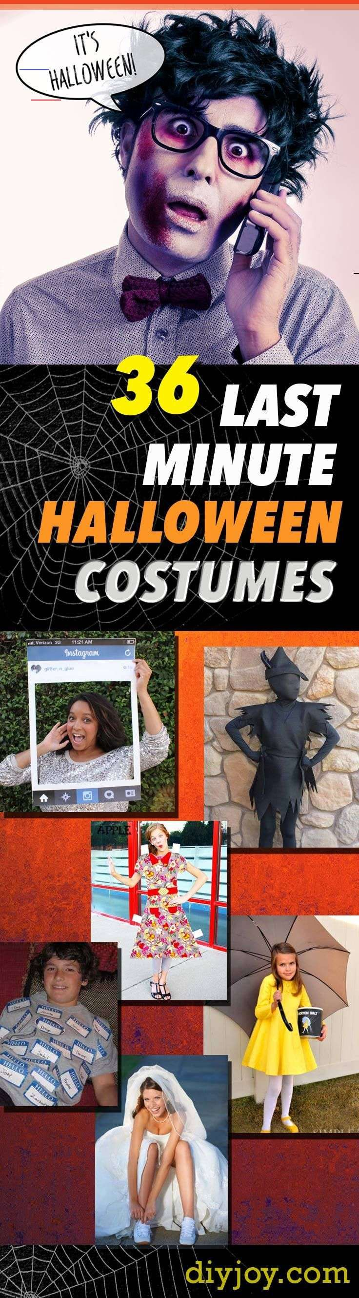 Last Minute Halloween Costumes -Quick Ideas for Couples, Kids, Babies, Men and Women - Cool DIY Halloween Costume Ideas Last Minute Halloween Costumes -Quick Ideas for Couples, Kids, Babies, Men and Women - Cool DIY Halloween Costume Ideas