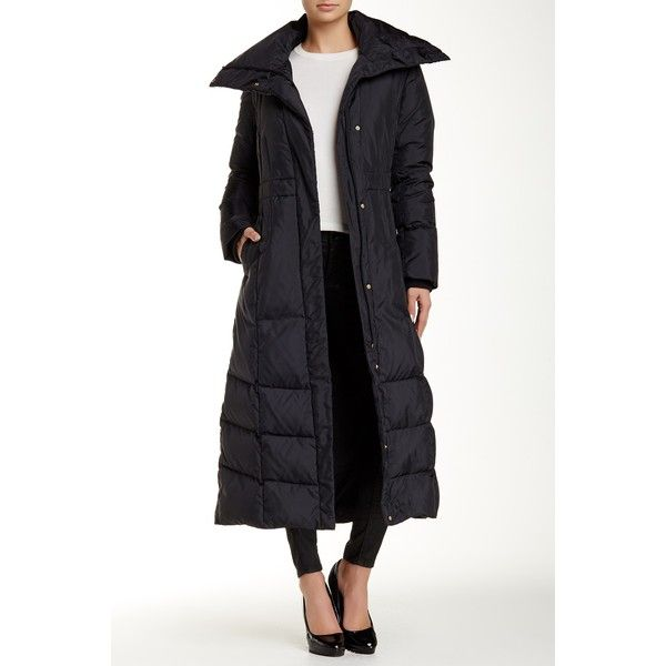 Black down coat polyvore