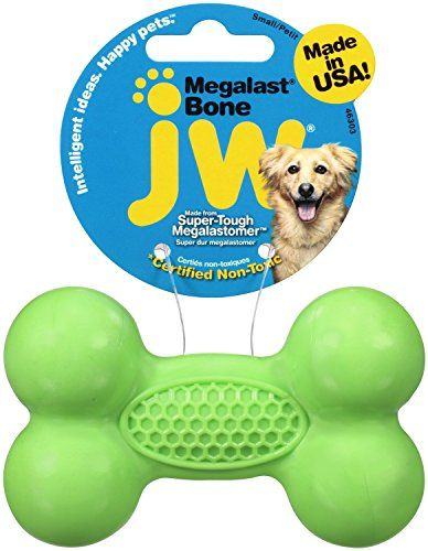 Small Super Tough Megalastomer Bone Dog Toy Colors Vary Learn