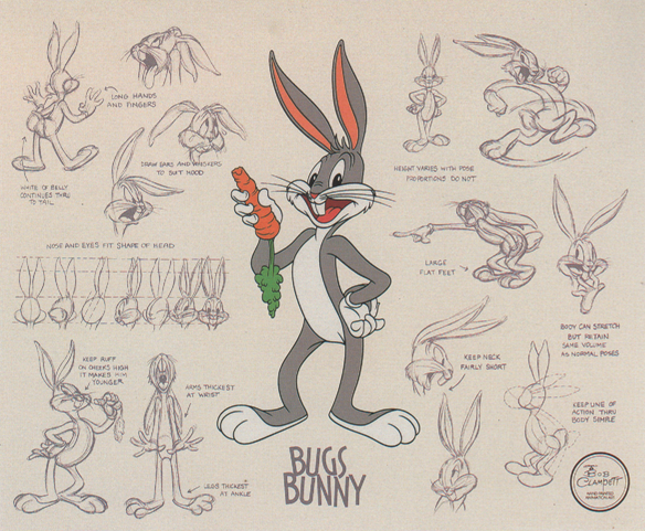 Bugs Bunny Model Sheet Pt 3 By Guibor Cartoon Character Design Classic Cartoon Characters Animation Sketches