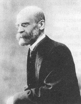 "Émile Durkheim.  Had a significant phobia of writing ""."".  In the tiny morsel of his writing that I read, he argued that all religions are equal in that they all have the same objective significance and serve the same functions everywhere.  This objective view is a big step forward for the field."