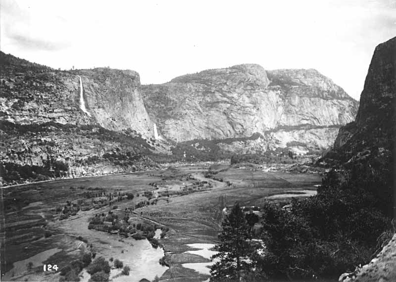 View across Hetch Hetchy Valley, early 1900s, prior to damming.  Photo by  Isaiah West Taber - Sierra Club Bulletin, Vol. VI. No. 4, January, 1908.