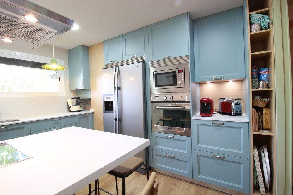 Diseño de cocinas en Cocina Colonial azul, Madrid- Galería de ...