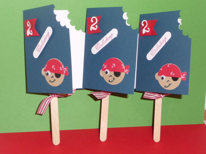 Pirat ,Einladung, Eiskarte,Kindergeburtstag Von Schönes Aus Stempel Und  Papier Auf DaWanda.com