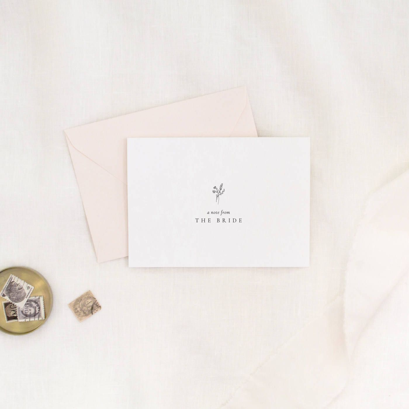 Wedding Day Note From The Bride Card Simple And Pretty Stationery Fl