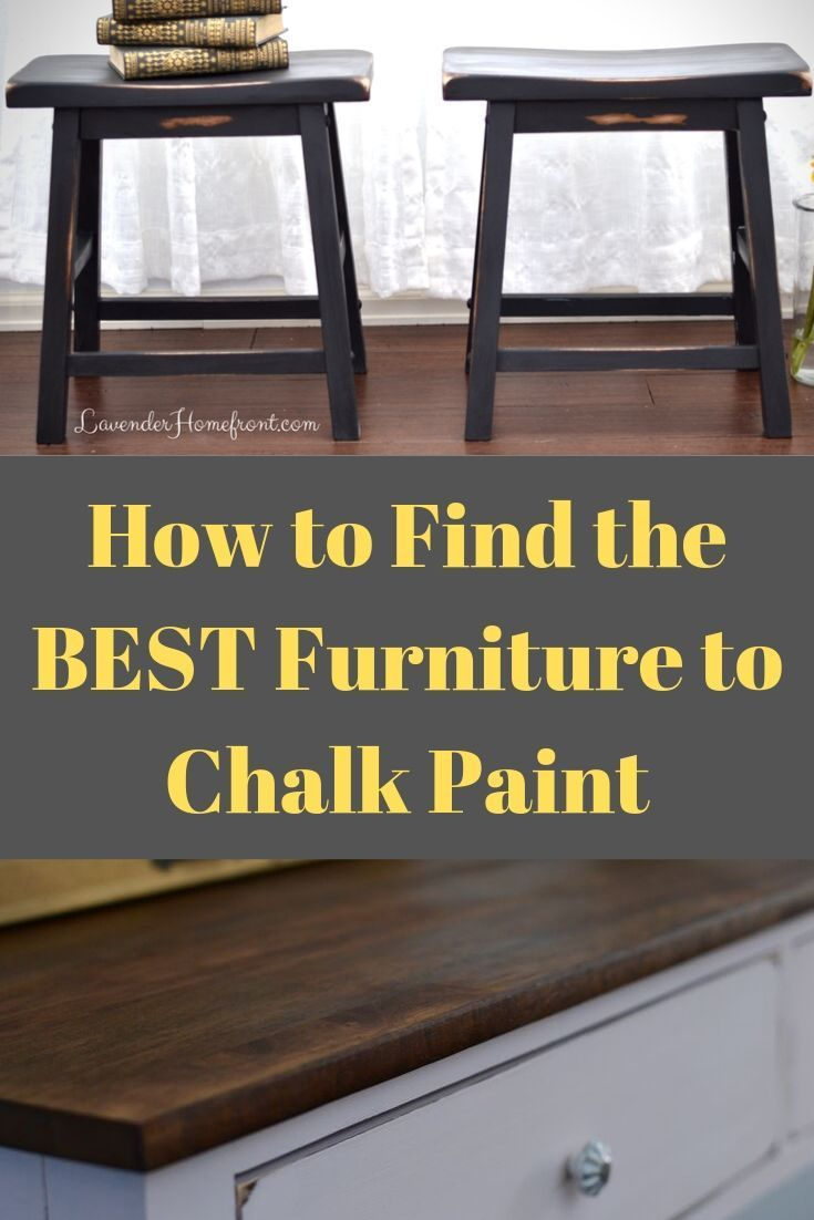 For DIY chalk paint furniture ideas, it's important to start with the proper piece! Learn how makes the best before and after for your own chalk painted furniture project with this simple tutorial!