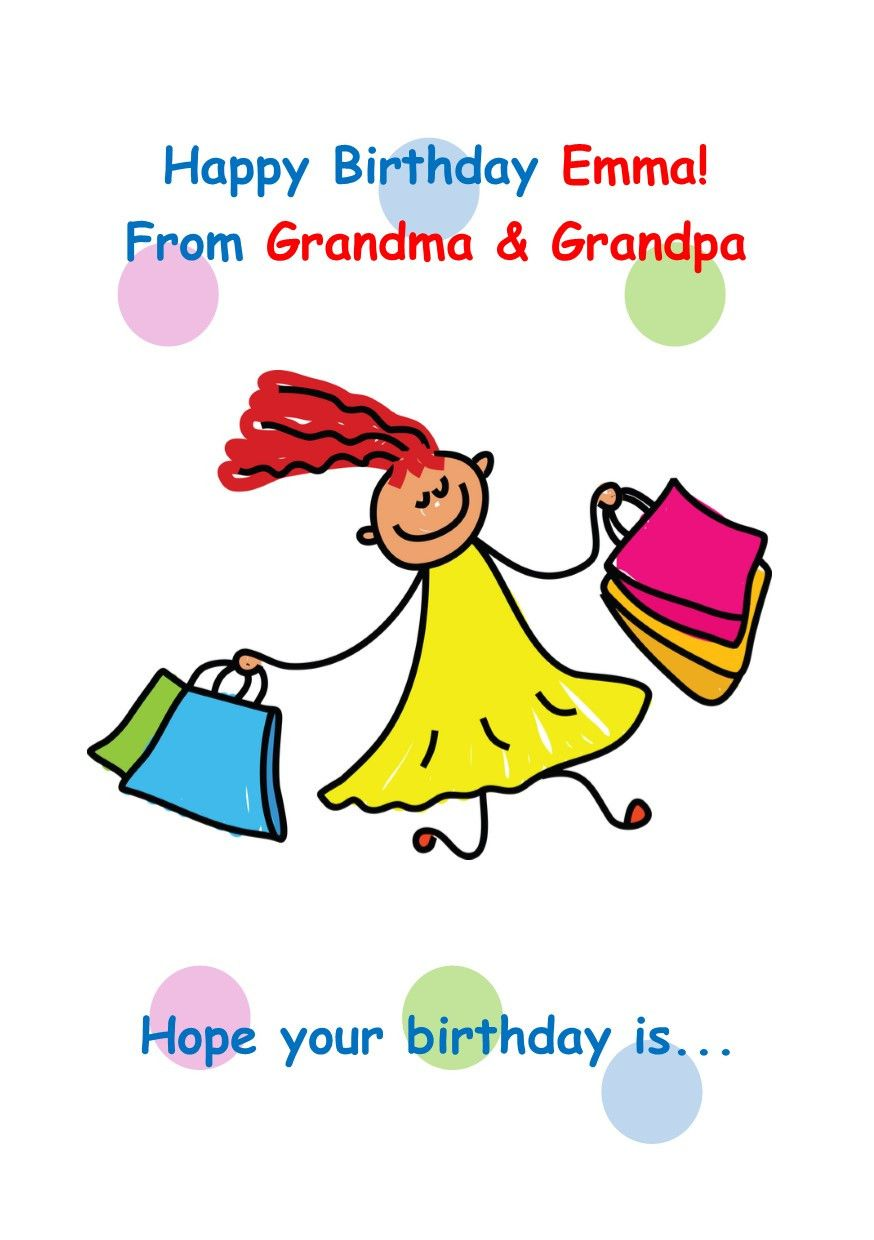 Happy birthday emma shopping products pinterest products