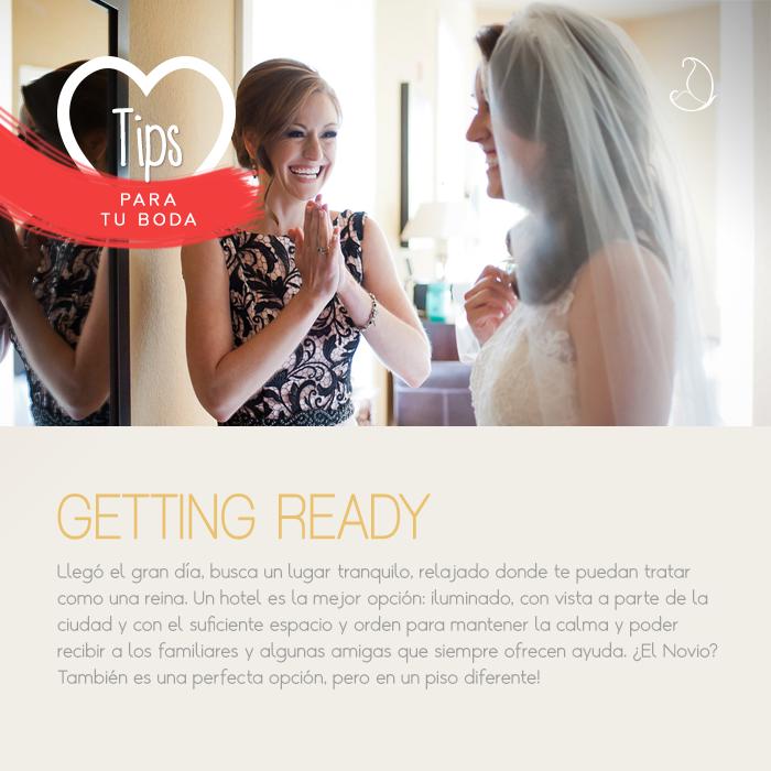 Un #SuperTip para que el día de tu boda estés calmada y sin apuros