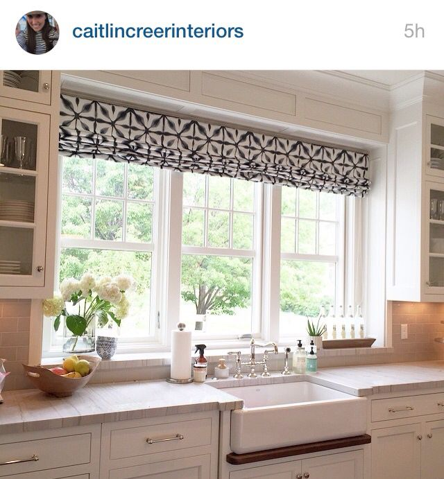 Window treatment over the kitchen sink | cuisine: wall of windows ...