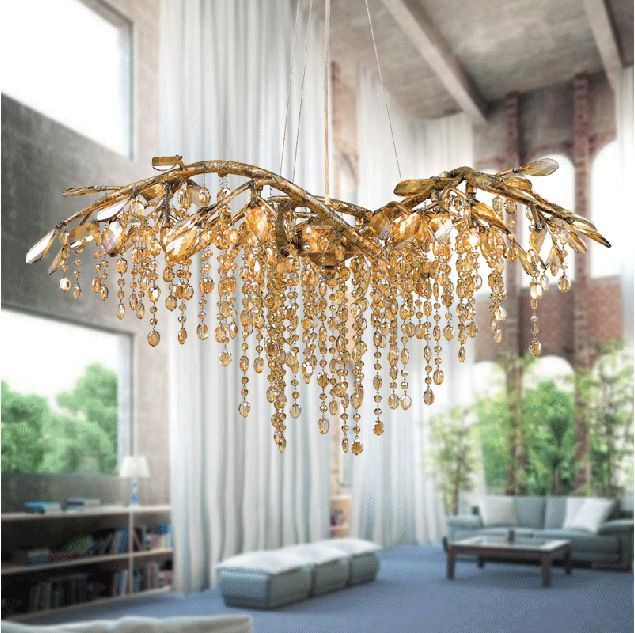 America creative rustic style simple crystal gold tree