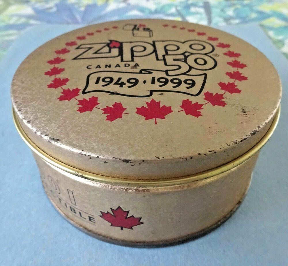 Rare Zippo Canada 50th Anniversary Tin 1949 1999 Zippo Canada Niagara Falls Zippo Zippo Canada Tin Toys Tin