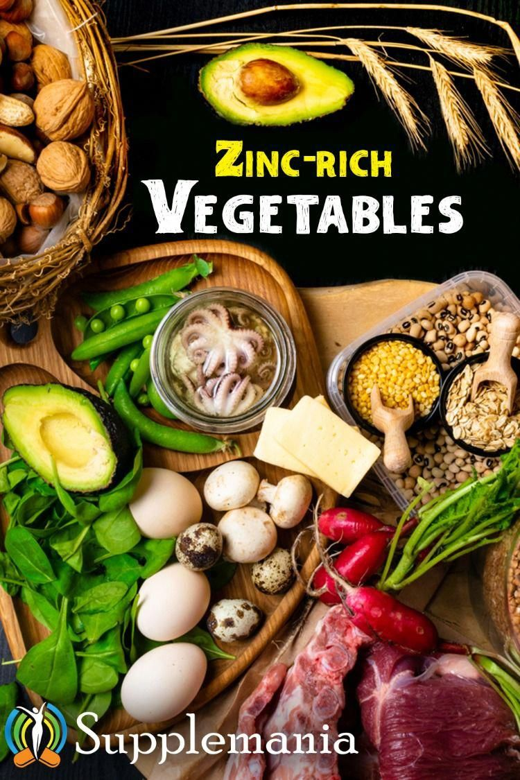 top zincrich vegetables, iron supplements, zinc
