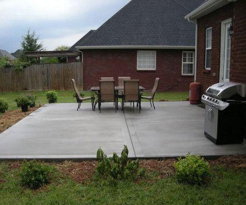 poured concrete patio concrete patio