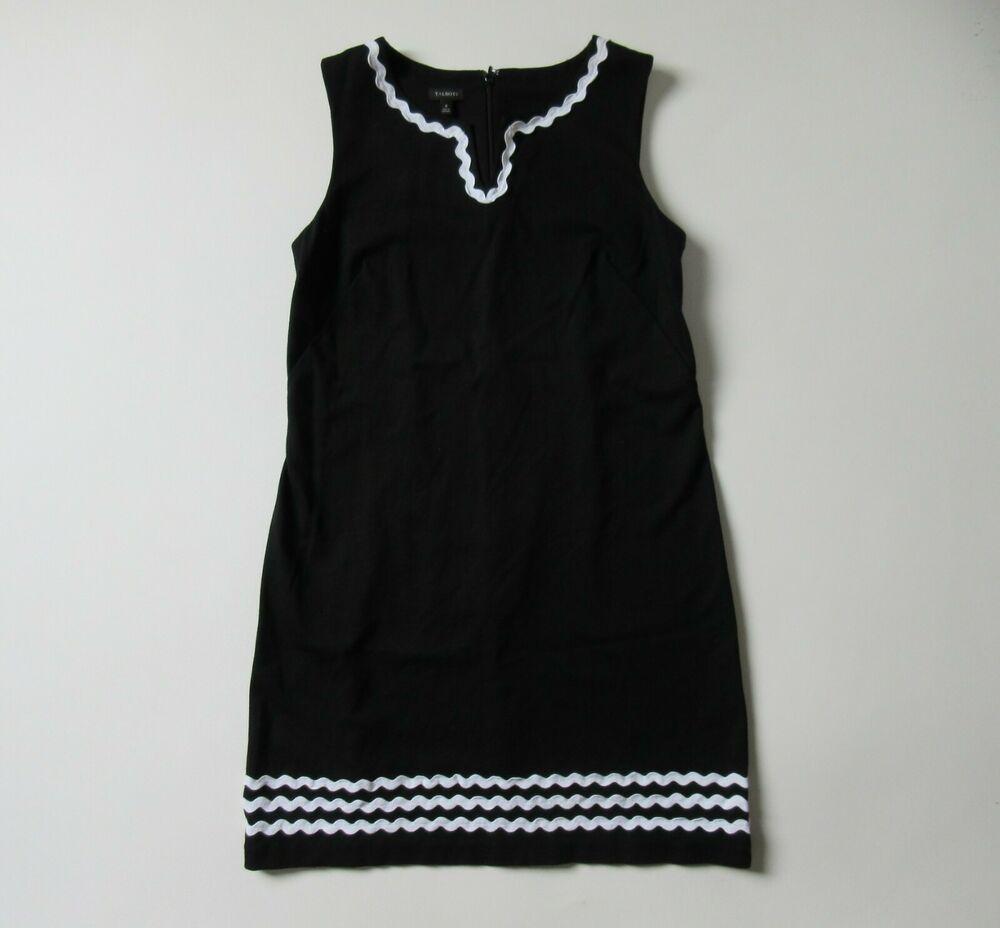 Talbots Rickrack Trim Ponte Shift In Black Sleeveless Stretch Dress 8 Talbots Shiftdress Casual Stretch Dress Casual Casual Dresses [ 928 x 1000 Pixel ]