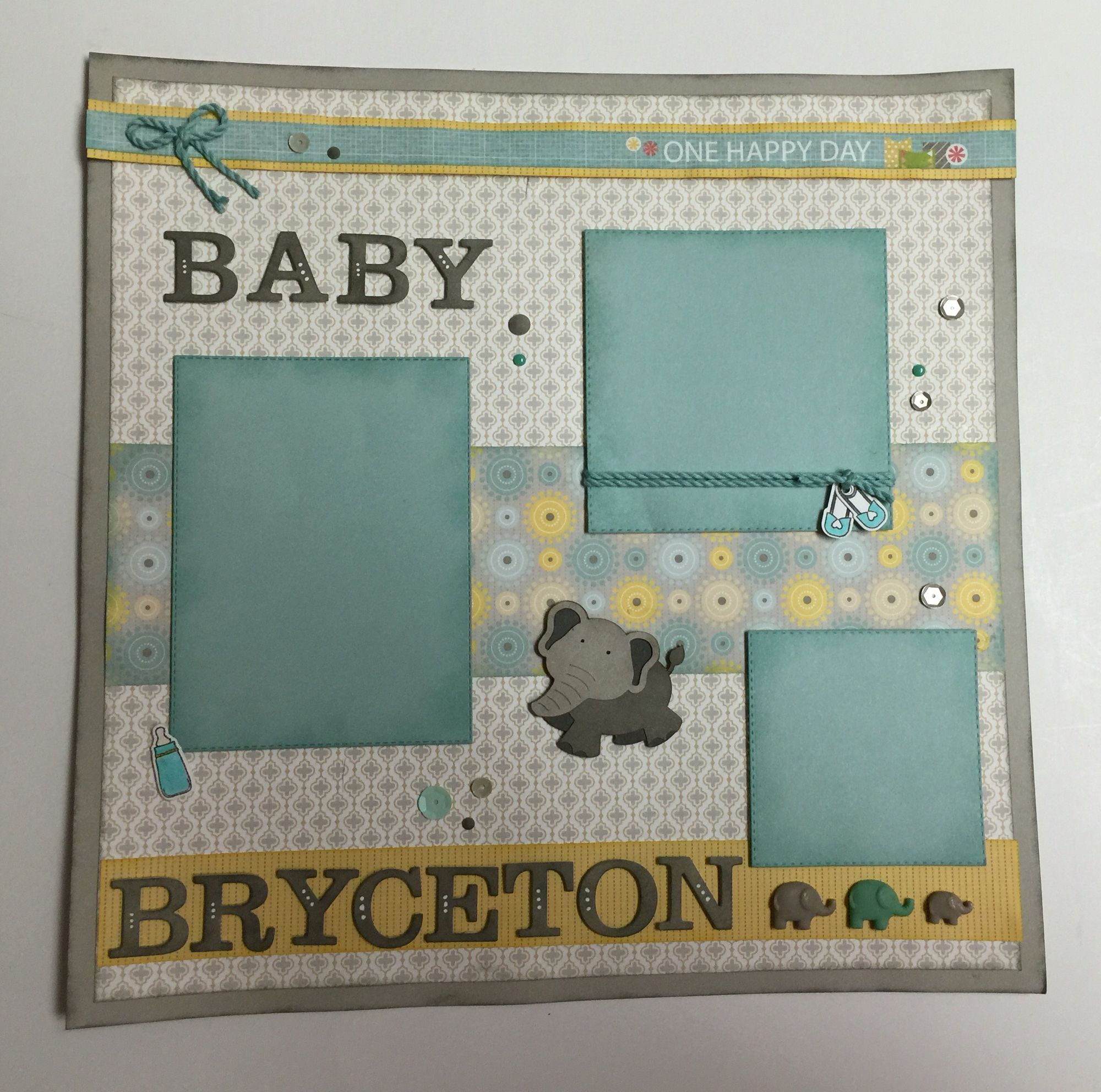 Baby boy page made with CTMH Georgia paper