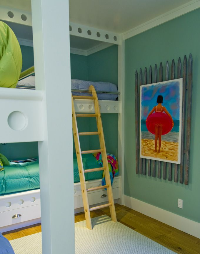 fun bunkroom and painting