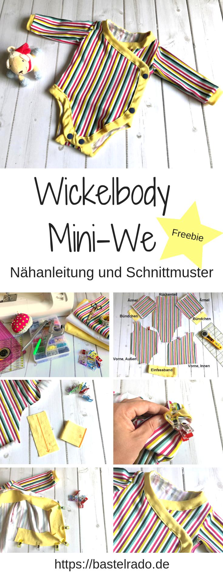 Wickelbody Mini-We - Nähanleitung und Schnittmuster #wickelkleidmuster