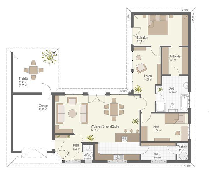 Hauspläne l-form  Bildergebnis für bungalow l-form | Дома | Pinterest | Bungalow ...