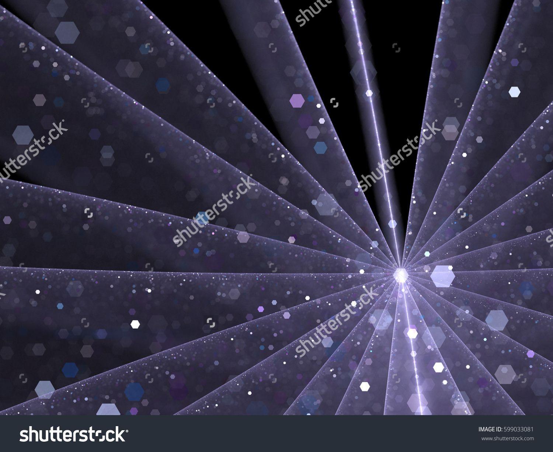Transparent Violet Flower    - Fractal Art