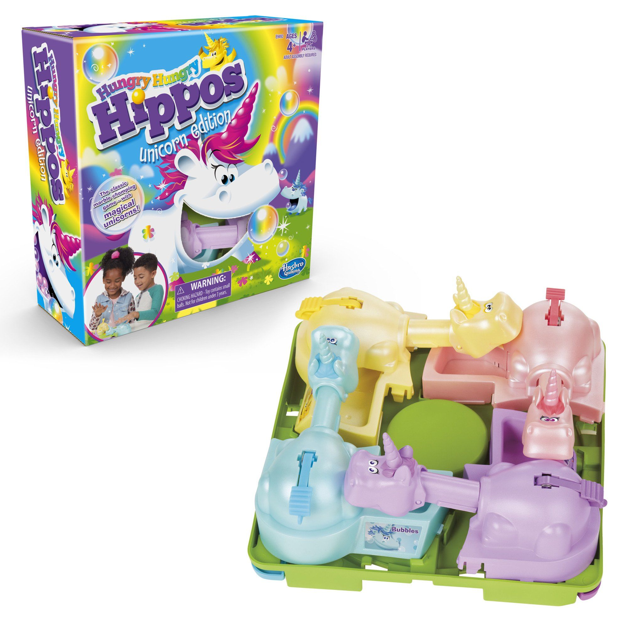 Hungry hungry hippos unicorn edition board game for 24