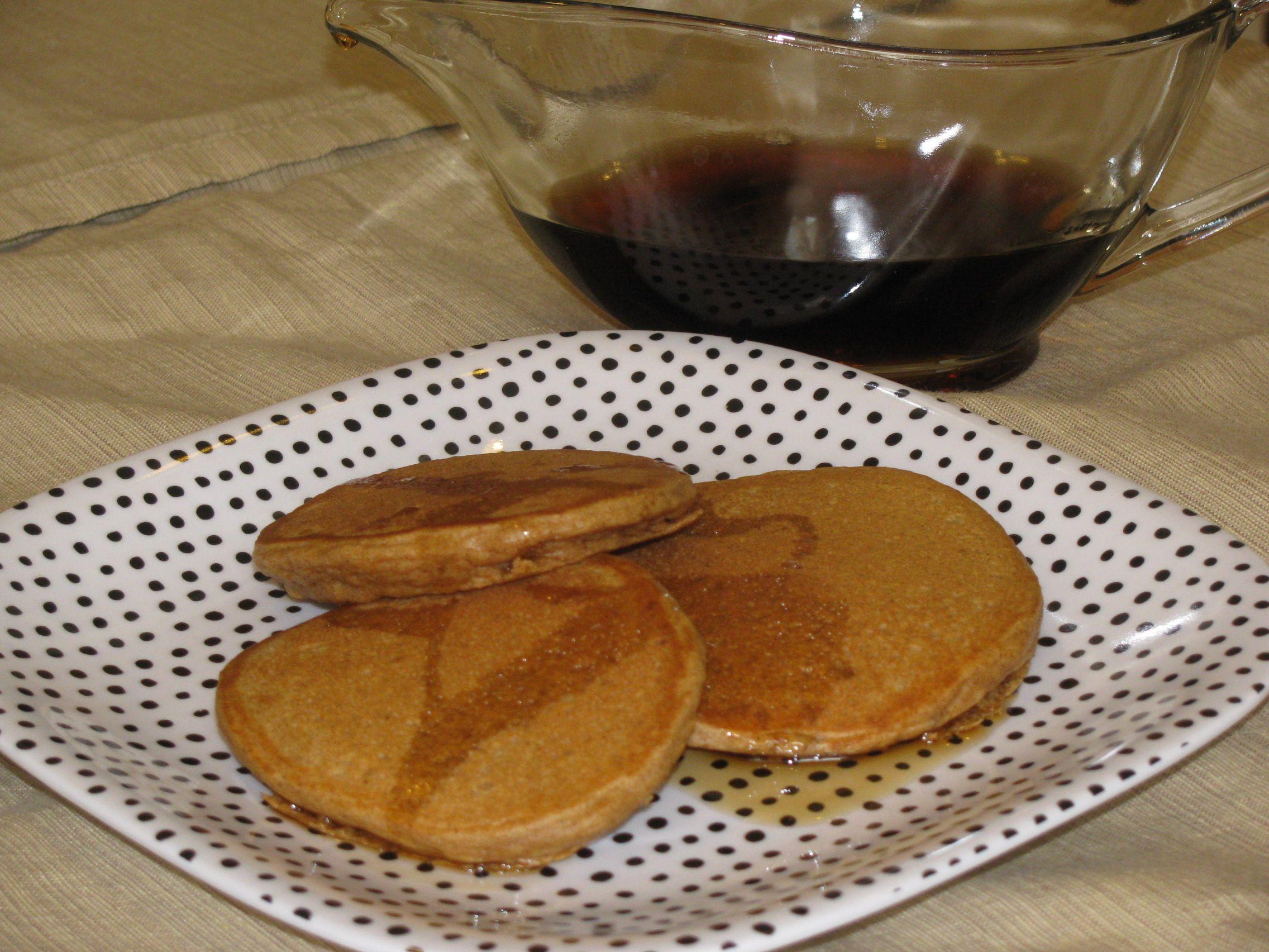 Apple Cinnamon Whole Wheat Pancakes- 43 calories