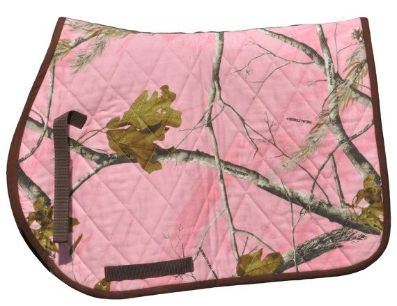 Camouflage Quilted All Purpose English Saddle Pad Let