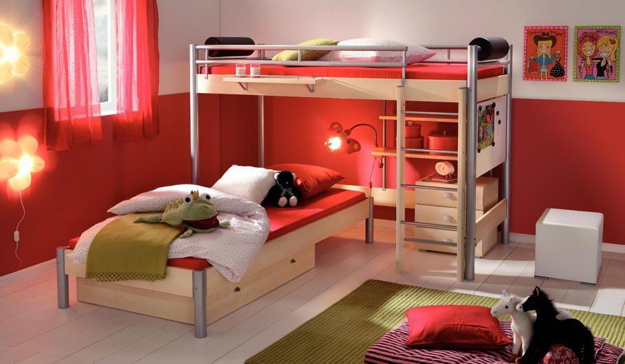 Etagenbett Kinder über Eck : Relita etagenbett beni cm buche real