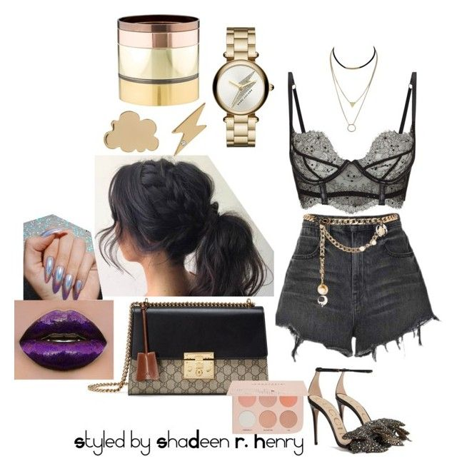 """Haute biker"" by shadeenie on Polyvore featuring Agent Provocateur, Alexander Wang, Gucci, Marc Jacobs, Gemma Redux, Maison Mayle and Guerriero"