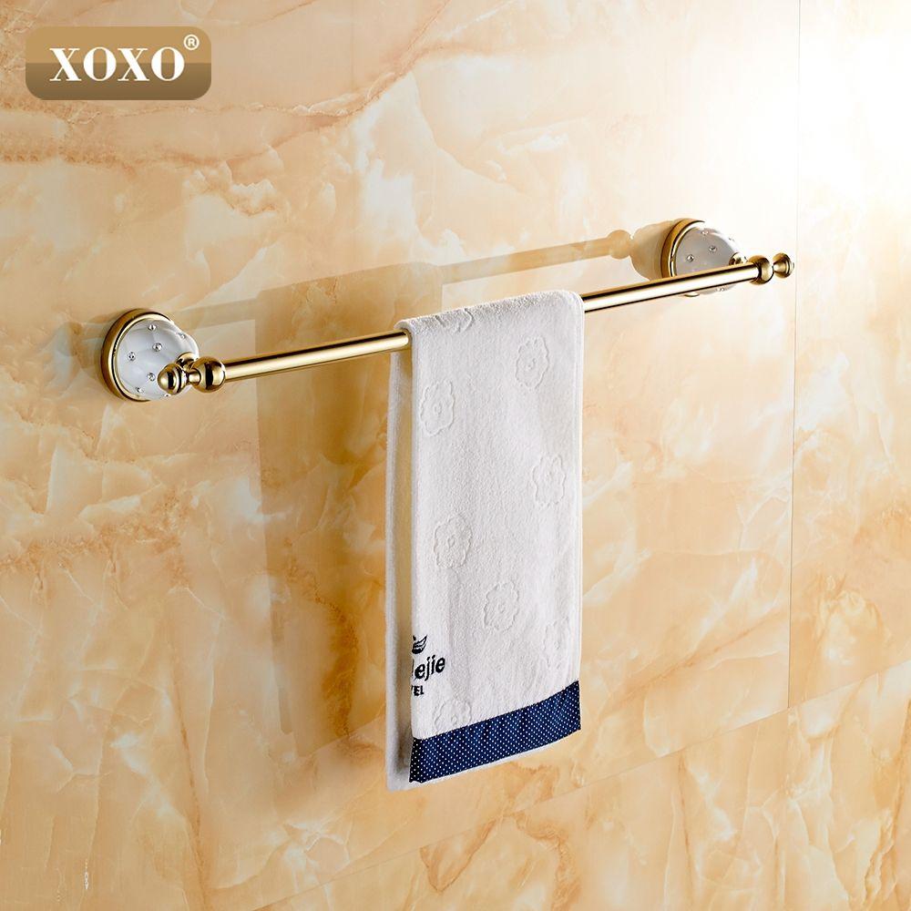 Xoxosingle Towel Bartowel Holder Towel Rack Solid Brass Inspiration Bathroom Towel Bar Design Decoration