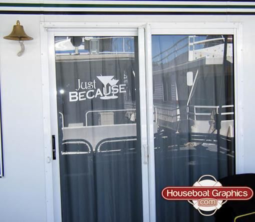 Houseboatgraphicsetchedglassdecalsvinylboatgraphics Graphics - Custom designed houseboat graphics