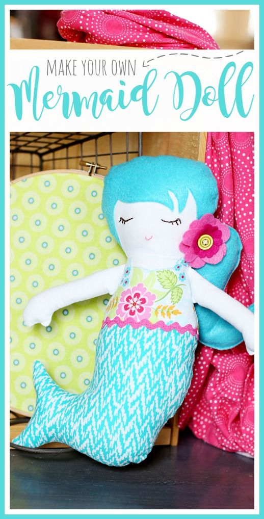 Mermaid Doll - a simple sewing project | Pinterest | Nähen