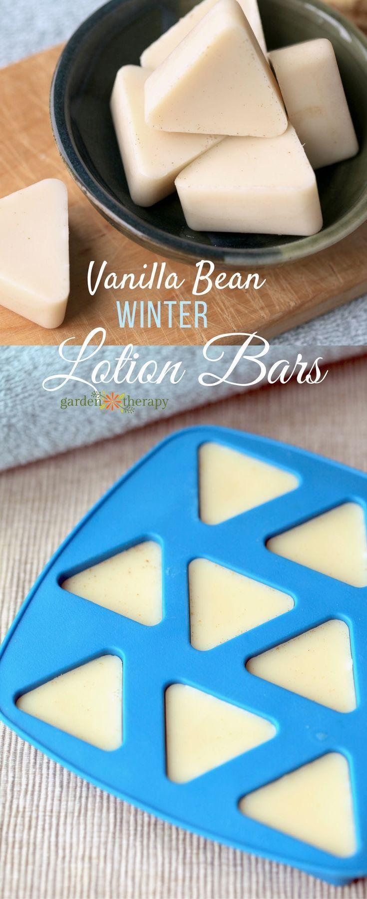 Vanilla Bean Winter Lotion Bar - Garden Therapy #diygifts