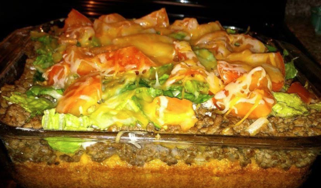 Taco Corn Bread Casserole Delicious Dishes Pinterest