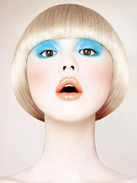 contemporary sixties pop art inspired make up