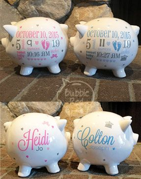 Twins personalized piggy banks twin baby gifts twins gifts baby twins personalized piggy banks twin baby gifts twins gifts baby boy gifts baby girl gifts piggy bank new baby gift baby bank negle Choice Image