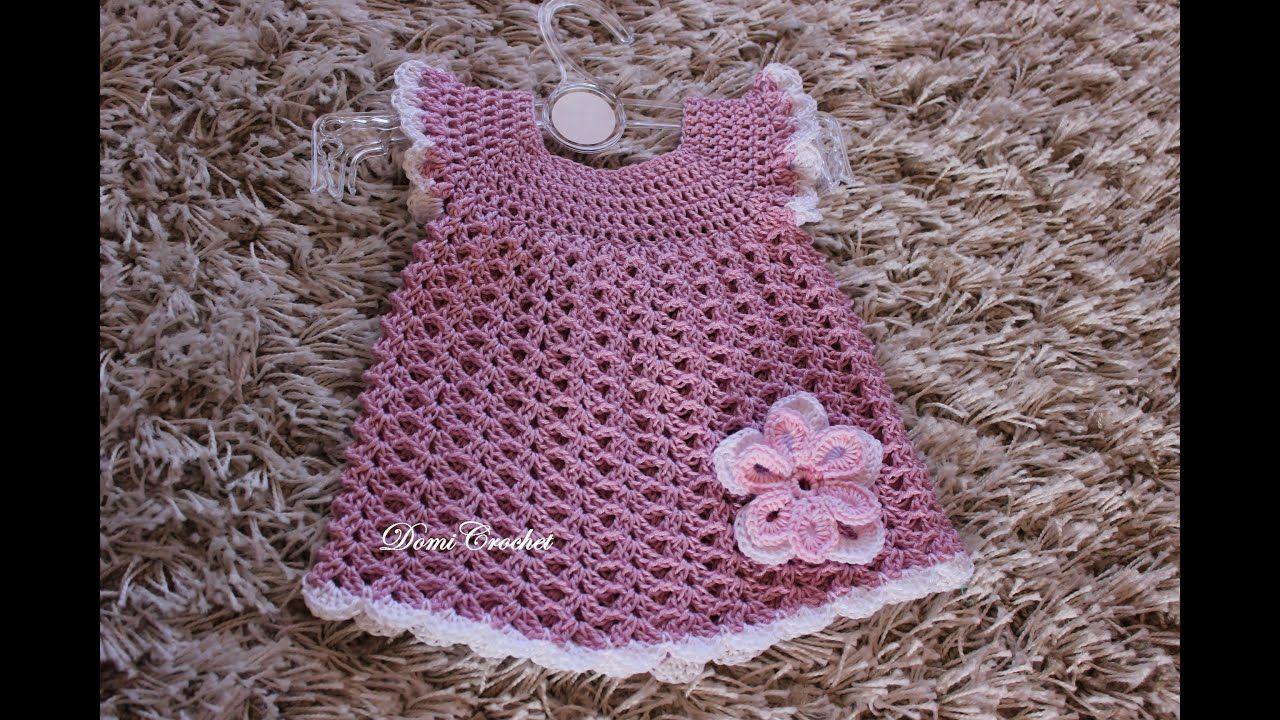 7bbca28980b2 Háčkované detské šaty - 2. časť